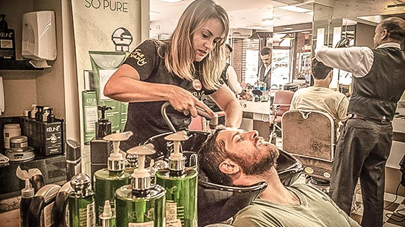 Barbearia Tradicional - como lavar o cabelo masculino
